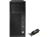 HP 240 MT + NVIDIA Quadro K1200 4GB TWR/SFF Kit 3.5GHz E3-1245V5 Mini Tower Nero Stazione di lavoro