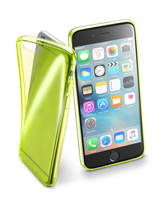 Cellularline Fluo Case - iPhone 6S/6 Custodie colorate in gomma ultrasottili e trasparenti Giallo