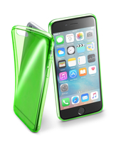 Cellularline Fluo Case - iPhone 6S/6 Custodie colorate in gomma ultrasottili e trasparenti Verde