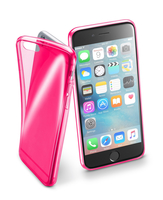 Cellularline Fluo Case - iPhone 6S/6 Custodie colorate in gomma ultrasottili e trasparenti Rosa