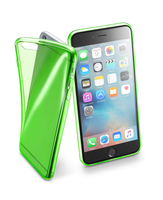 Cellularline Fluo Case - iPhone 6S Plus/6 Plus Custodie colorate in gomma ultrasottili e trasparenti Verde