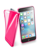Cellularline Fluo Case - iPhone 6S Plus/6 Plus Custodie colorate in gomma ultrasottili e trasparenti Rosa