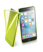Cellularline Fluo Case - iPhone 6S Plus/6 Plus Custodie colorate in gomma ultrasottili e trasparenti Giallo