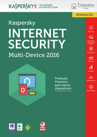 Kaspersky Lab Internet Security - Multi-Device 2016 3utente(i) 1anno/i Portoghese