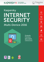 Kaspersky Lab Internet Security - Multi-Device 2016 Base license 3utente(i) 1anno/i Portoghese
