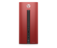 HP Pavilion 550-270ns 2.7GHz i5-6400 Mini Tower Nero, Rosso PC