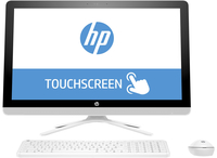 "HP 24-g013ns 2.2GHz A8-7410 23.8"" 1920 x 1080Pixel Touch screen Bianco PC All-in-one"