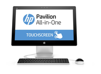 "HP Pavilion 23-q206ns 3.2GHz i3-6100T 23"" 1920 x 1080Pixel Touch screen Nero, Bianco PC All-in-one"