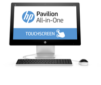 "HP Pavilion 23-q212nb 2.8GHz i7-6700T 23.8"" 1920 x 1080Pixel Touch screen Bianco PC All-in-one"