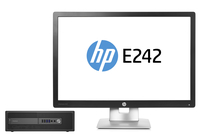HP EliteDesk 800 G2 SFF + EliteDisplay E242 3.2GHz i5-6500 SFF Nero PC