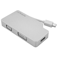 StarTech.com Adattatore Audio/Video da Viaggio 3 in 1 - Mini DisplayPort a VGA, DVI o HDMI - in Alluminio - 4K