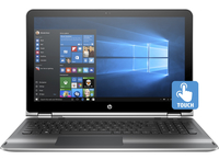 "HP Pavilion x360 15-bk000ng 2.3GHz i3-6100U 15.6"" 1366 x 768Pixel Touch screen Argento Ibrido (2 in 1)"