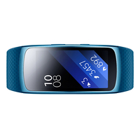 "Samsung Gear Fit 2 Wristband activity tracker 1.5"" AMOLED Cablato Blu"