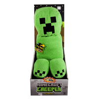 Minecraft Creeper Plush With Sound Felpato Nero, Verde