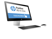 "HP Pavilion 23-q235na 3.2GHz i3-6100T 23"" 1920 x 1080Pixel Touch screen Nero, Bianco PC All-in-one"