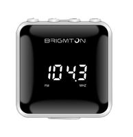Brigmton BT-125-B Personale Digitale Nero, Bianco radio