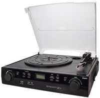 Brigmton BTC-406REC Belt-drive audio turntable Nero piatto audio