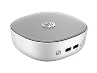 HP Pavilion 300-238cn 2GHz i3-5005U Desktop piccolo Nero, Bianco Mini PC