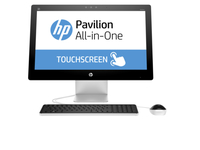 "HP Pavilion 23-q190nl 1.8GHz A10-8700P 23"" 1920 x 1080Pixel Touch screen Bianco PC All-in-one"