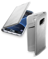 Cellularline Flip-Book - Galaxy S7 Edge Custodia a libro ultra-slim che esalta il design Argento