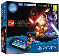 "Sony PS Vita 2016 + Lego Star Wars 5"" Touch screen Wi-Fi Nero console da gioco portatile"