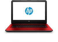 "HP 14-am012nr 1.6GHz N3710 14"" 1366 x 768Pixel Nero, Rosso Computer portatile"