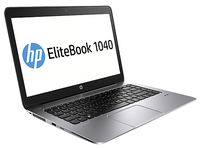 "HP EliteBook Folio 1040 G2 2.3GHz i5-5300U 14"" 1920 x 1080Pixel 3G 4G Argento Ultrabook"