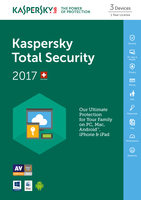 Kaspersky Lab Total Security 2017 3utente(i) 1anno/i Inglese
