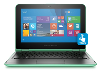 "HP Pavilion x360 11-k008na 1.6GHz N3050 11.6"" 1366 x 768Pixel Touch screen Verde Ibrido (2 in 1)"