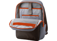 HP 15.6 Duotone Orange Backpack Tela Nero, Grigio, Arancione zaino