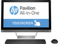 "HP Pavilion 24-b014la 2.8GHz i7-6700T 23.8"" 1920 x 1080Pixel Touch screen Nero, Argento PC All-in-one"