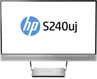 "HP EliteDisplay S240uj 23.8"" Wide Quad HD IPS Opaco Nero, Argento monitor piatto per PC"