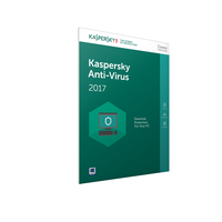 Kaspersky Lab Anti-Virus 2017 Base license 3utente(i) 1anno/i Inglese