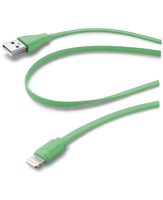 Cellularline USB Data Cable Color - Lightning Cavo dati colorato e in materiale antigroviglio Verde