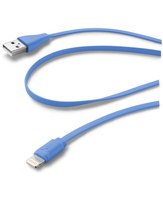 Cellularline USB Data Cable Color - Lightning Cavo dati colorato e in materiale antigroviglio Blu