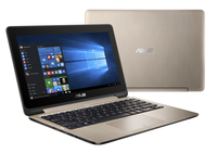 "ASUS VivoBook Flip TP201SA-FV0027D 1.6GHz N3710 11.6"" 1366 x 768Pixel Touch screen Oro Ibrido (2 in 1) notebook/portatile"