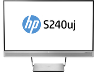 "HP EliteDisplay S240uj 23.8"" Wide Quad HD IPS Nero, Argento monitor piatto per PC"