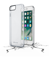 Cellularline Clear Duo - iPhone 7 Plus Custodia rigida trasparente con sportellino a libro Trasparente