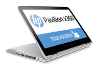 "HP Pavilion x360 13-s102nt 3.7GHz i3-6100 13.3"" 1366 x 768Pixel Touch screen Argento Ibrido (2 in 1)"