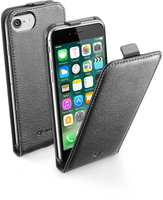 Cellularline Flap Essential - iPhone 7 Custodia con apertura flap e finitura effetto pelle Nero