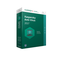 Kaspersky Lab Anti-Virus 2017 1utente(i) 1anno/i Full license DAN,FIN,NOR,SWE