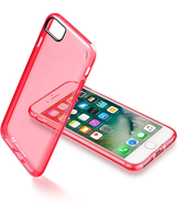 Cellularline Clear Color - iPhone 7 Cover rigida super colorata e cornice morbida Rosa