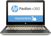 "HP Pavilion x360 13-u100np 2.40GHz i3-7100U 13.3"" 1366 x 768Pixel Touch screen Oro, Argento Ibrido (2 in 1)"