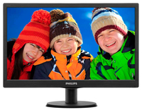 "Philips 193V5LHSB2/70 18.5"" HD LCD/TFT Opaco Nero monitor piatto per PC LED display"