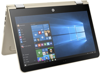 "HP Pavilion x360 11-u020ca 1.6GHz N3710 11.6"" 1366 x 768Pixel Touch screen Oro, Argento Ibrido (2 in 1)"