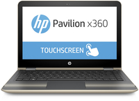 "HP Pavilion x360 13-u020ca 2.3GHz i3-6100U 13.3"" 1366 x 768Pixel Touch screen Carbonella, Oro Ibrido (2 in 1)"