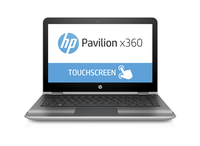 "HP Pavilion x360 13-u010ca 2.3GHz i3-6100U 13.3"" 1366 x 768Pixel Touch screen Carbonella, Argento Ibrido (2 in 1)"