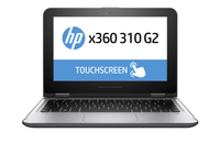 "HP x360 310 G2 1.6GHz N3060 11.6"" 1366 x 768Pixel Touch screen Nero, Argento Ibrido (2 in 1)"