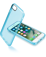 Cellularline Clear Color - iPhone 7 Cover rigida super colorata e cornice morbida Blu