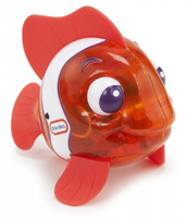 Little Tikes Sparkle Bay Flicker Fish Clown Fish Animale per vasca Arancione, Bianco